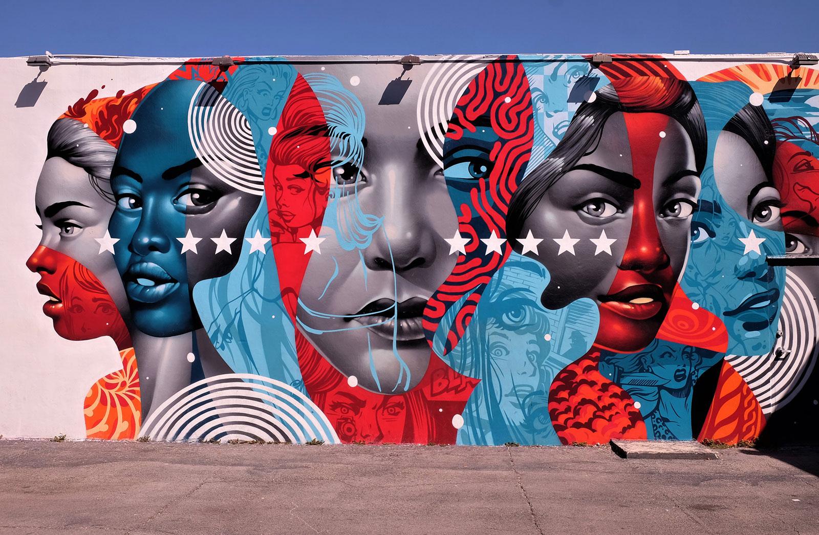 Mural in Wynwood, Miami, Florida: Tristan Eaton, 'American Power'