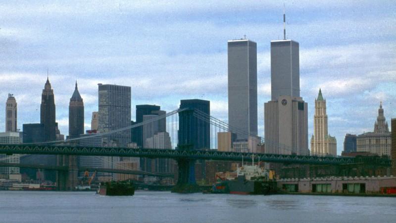 Skyline of New York City, New York, 1980s